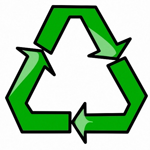 Recycle symbol illustration : Free Stock Photo