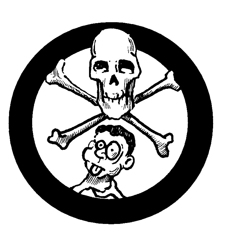 Skull and crossbones illustration : Free Stock Photo