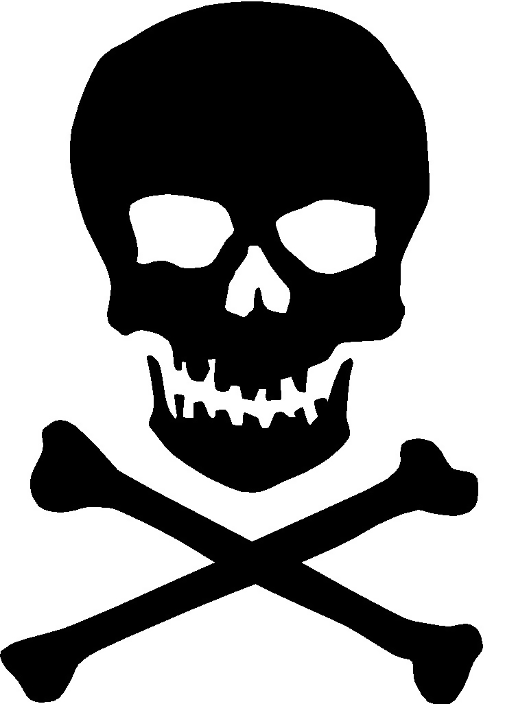 Illustration of a skull and crossbones.