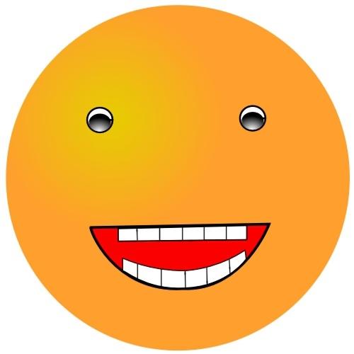 Orange smiley face : Free Stock Photo
