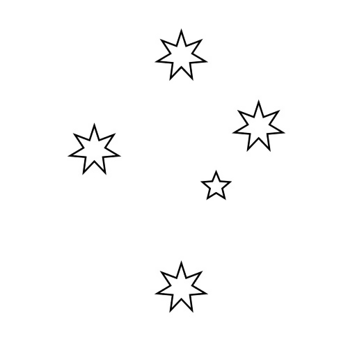 White stars illustration : Free Stock Photo