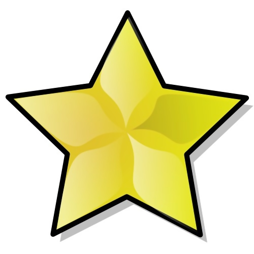 Yellow star illustration : Free Stock Photo