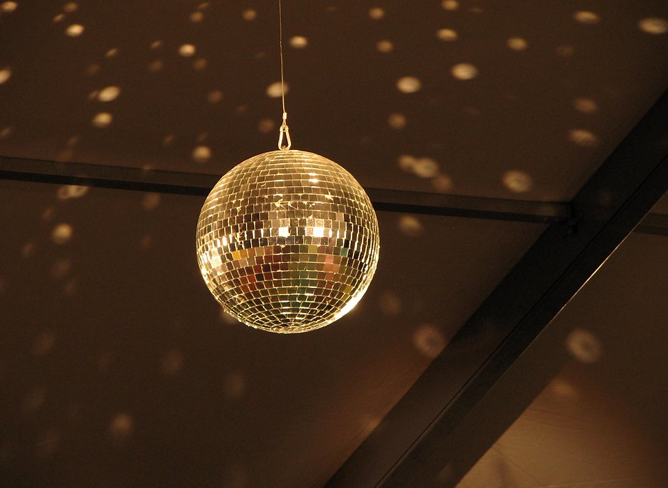 Closeup of a disco ball : Free Stock Photo