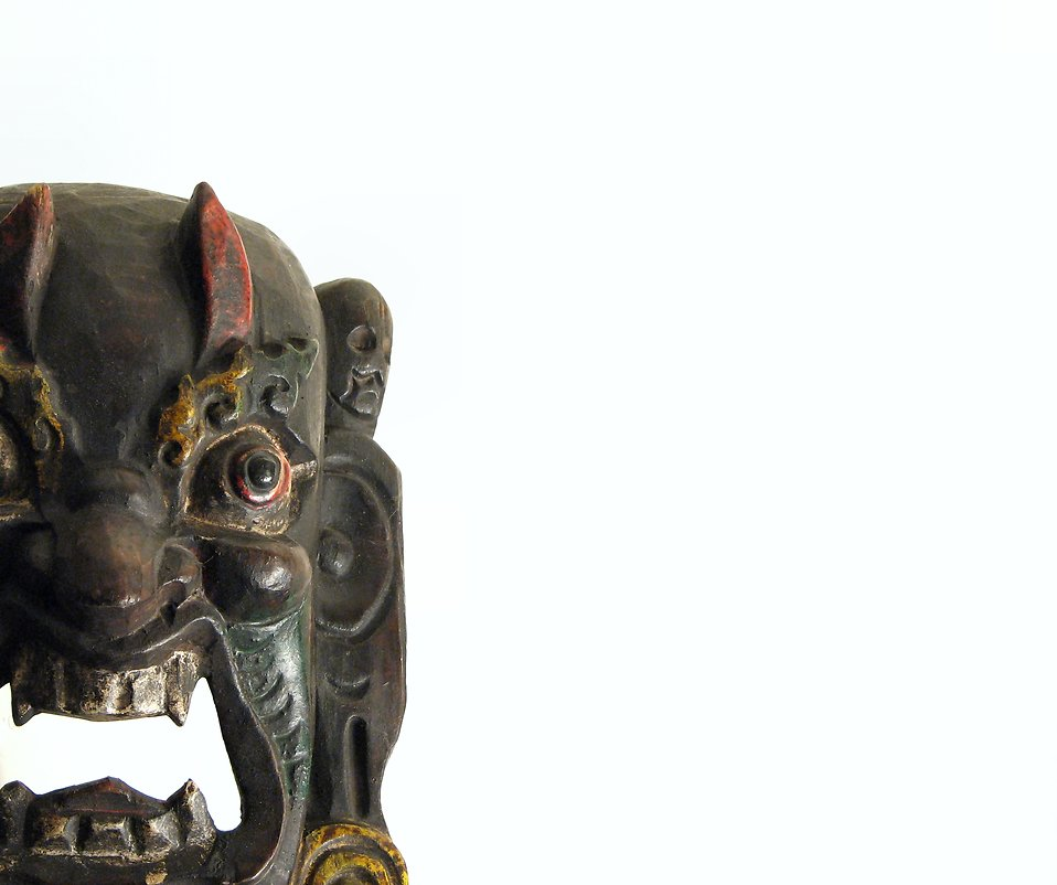 Closeup of an African mask : Free Stock Photo