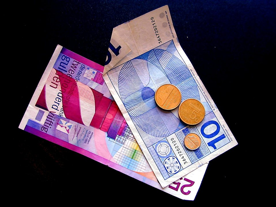 Colorful Dutch currency : Free Stock Photo