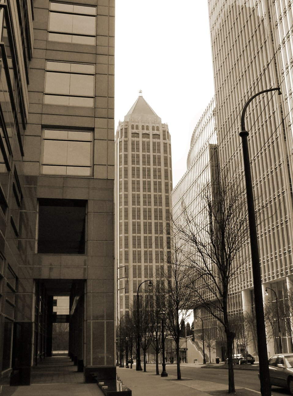 B&W Atlanta downtown buildings : Free Stock Photo