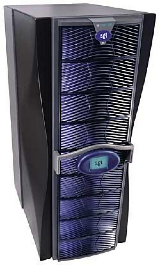 Stylish blue computer tower : Free Stock Photo