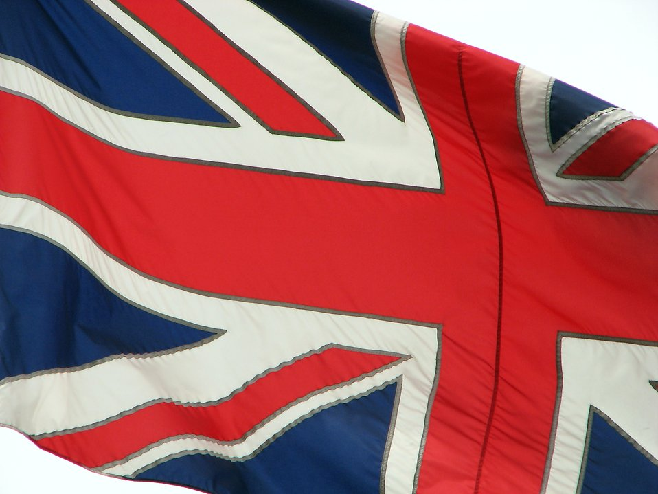 Closeup of a UK flag : Free Stock Photo