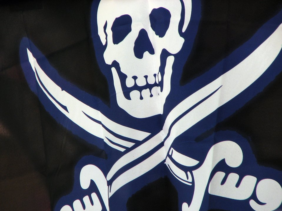 Skull and crossbones flag : Free Stock Photo