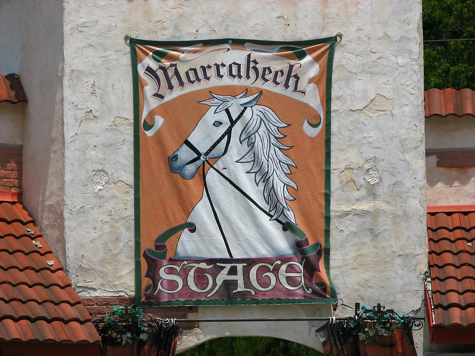 Medieval sign with a horse : Free Stock Photo