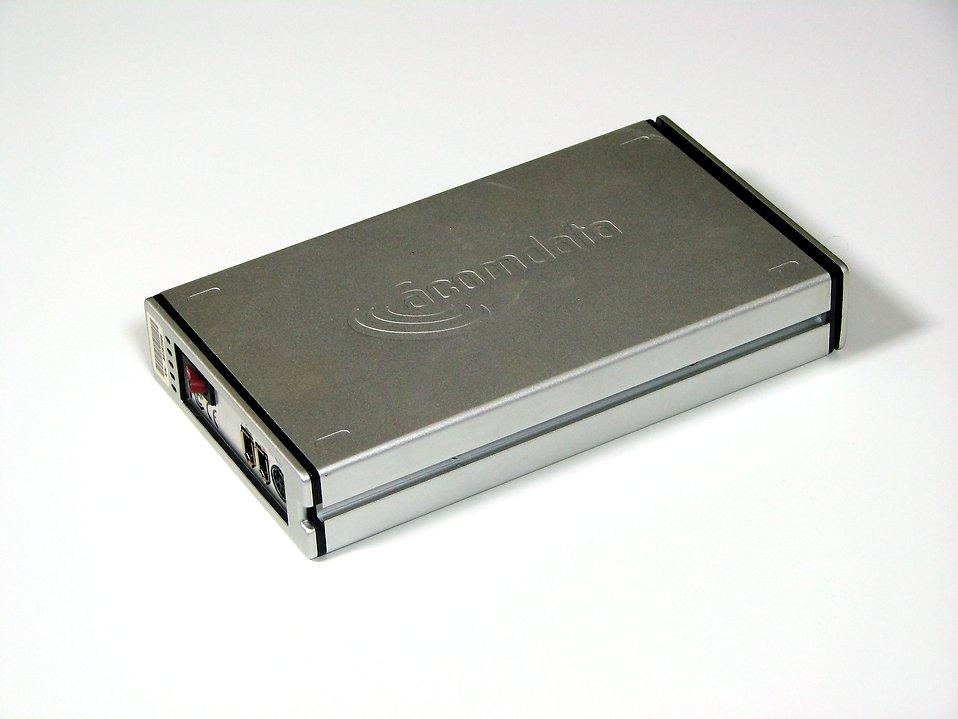 External hard drive on white background : Free Stock Photo