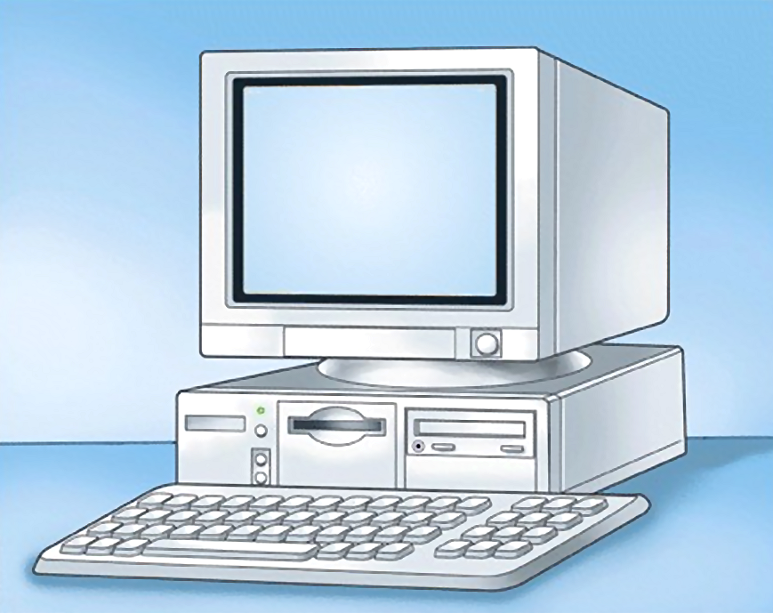 Illustration of a desktop computer : Free Stock Photo