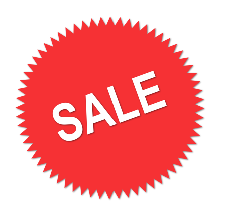 Illustration of a red sales sticker : Free Stock Photo