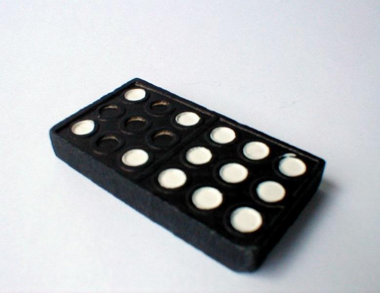 Closeup of a domino : Free Stock Photo