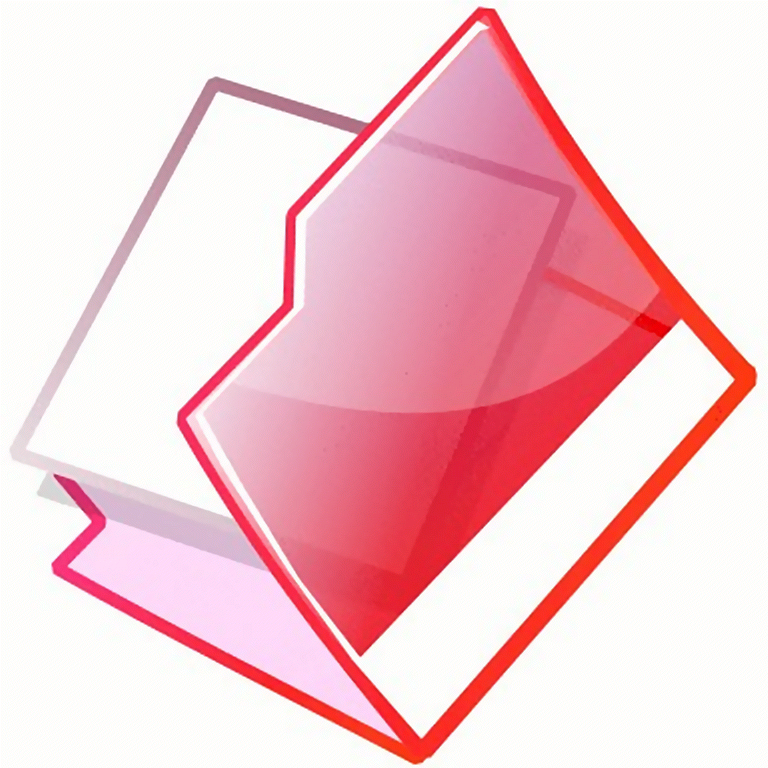 Illustration of an open red folder : Free Stock Photo