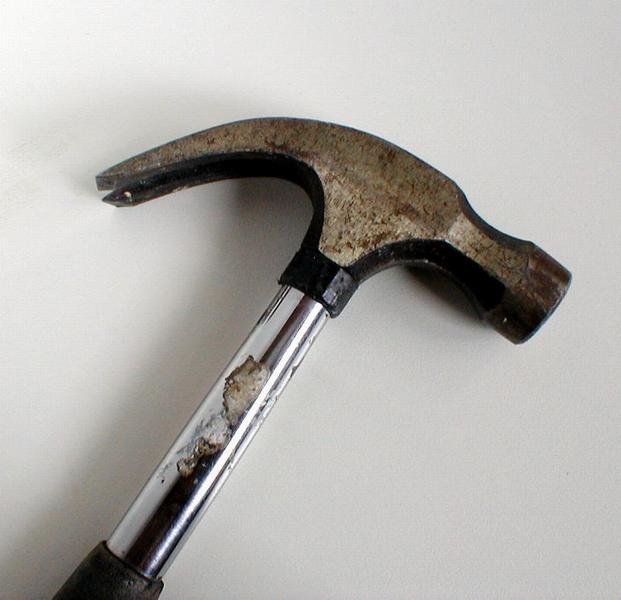 Closeup of a rusty hammer : Free Stock Photo