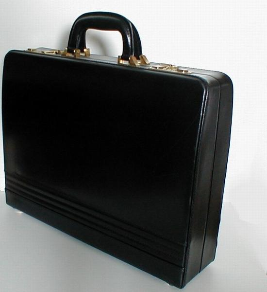 Black leather briefcase on a white background : Free Stock Photo