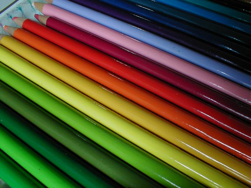 Closeup of colored pencils : Free Stock Photo