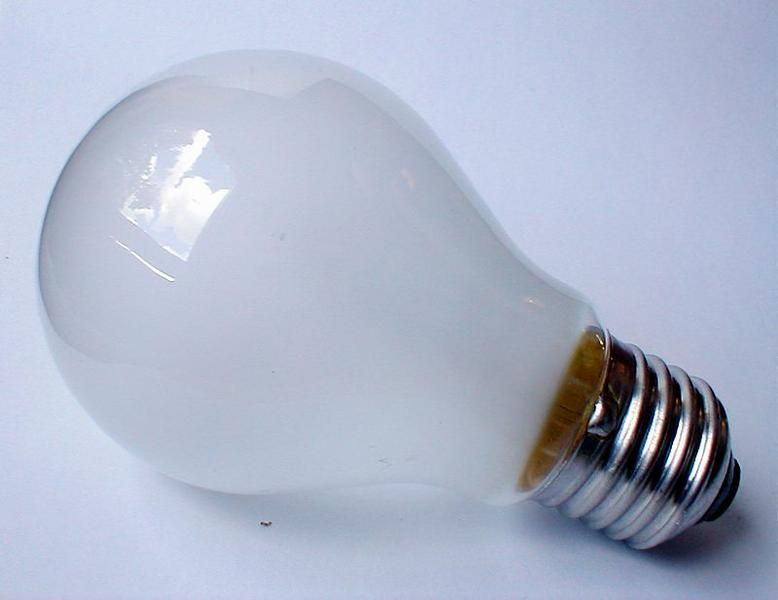 Closeup of a clear light bulb : Free Stock Photo