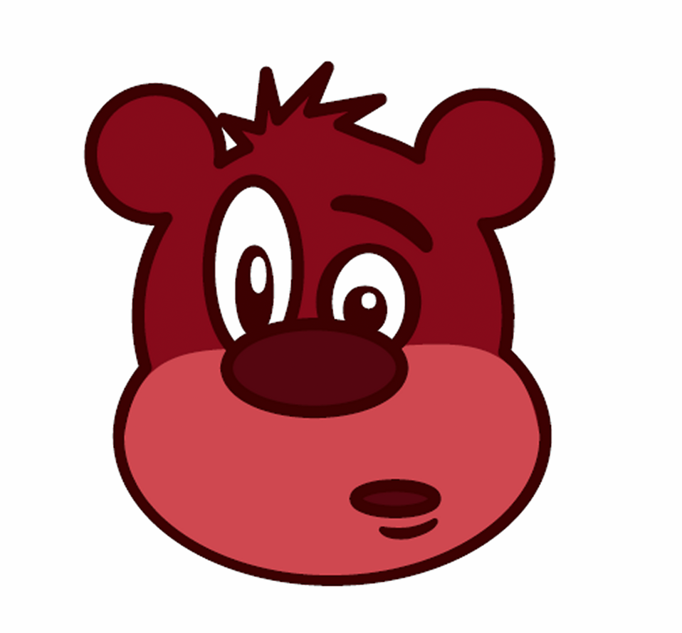 Illustration of a comical bear : Free Stock Photo