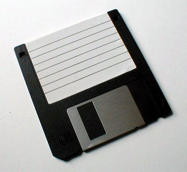 Closeup of blank floppy disc : Free Stock Photo