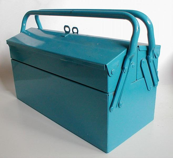 Blue metal toolbox : Free Stock Photo
