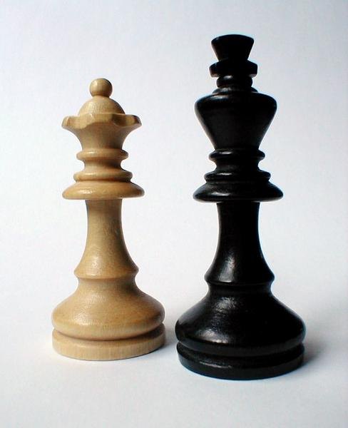 Closeup of chess king and queen : Free Stock Photo
