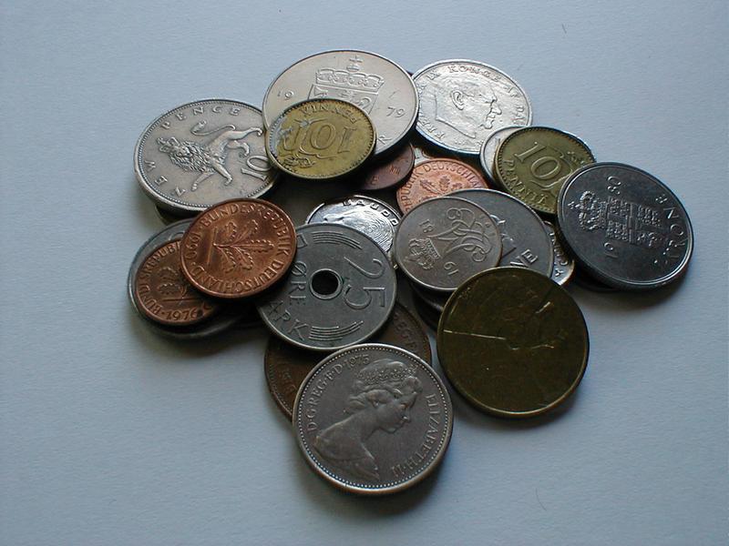 Small pile of mixed European coins. : Free Stock Photo