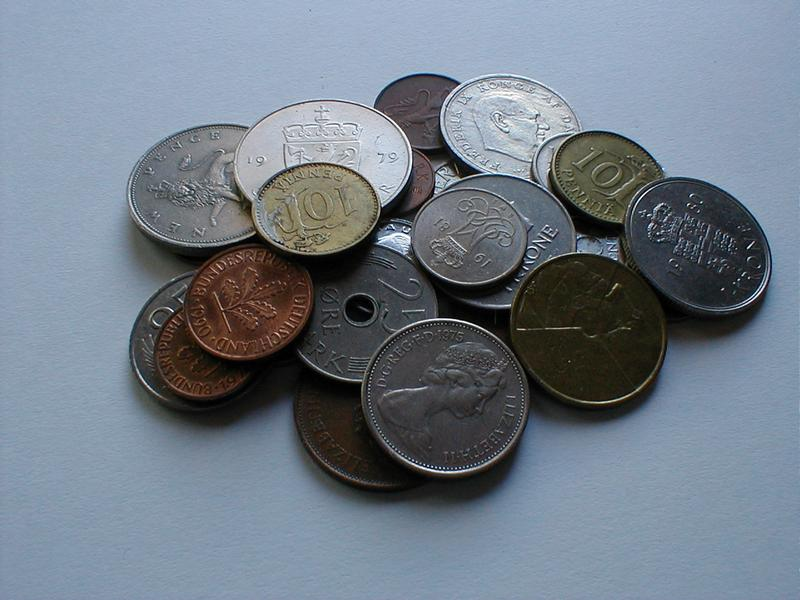 Small pile of European coins : Free Stock Photo