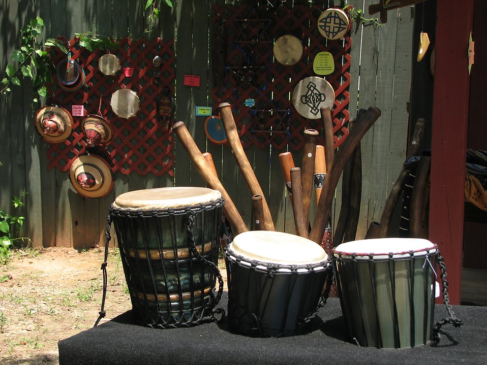 Hand made drums for sale : Free Stock Photo