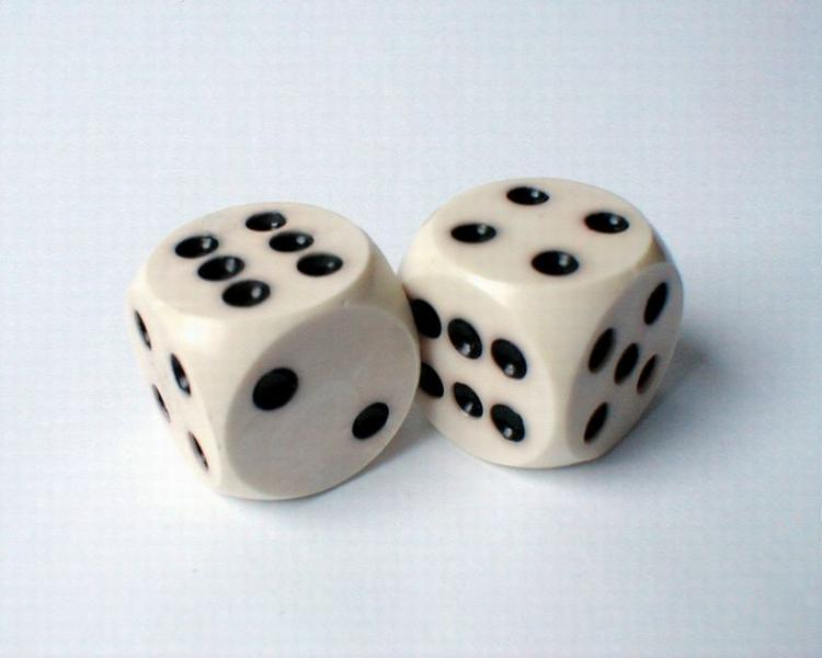 A pair of dice on a white background : Free Stock Photo