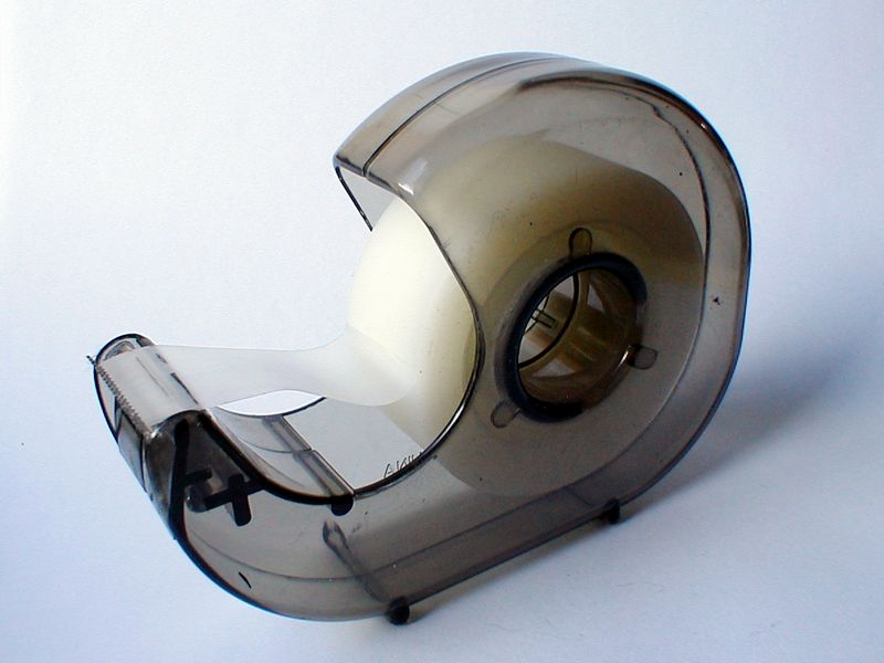 Transparent tape dispenser : Free Stock Photo