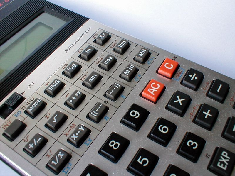 Closeup of a calculator : Free Stock Photo