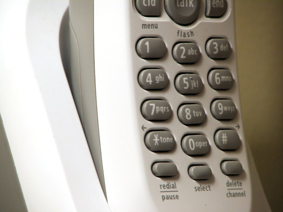 Closeup of cordless telephone : Free Stock Photo