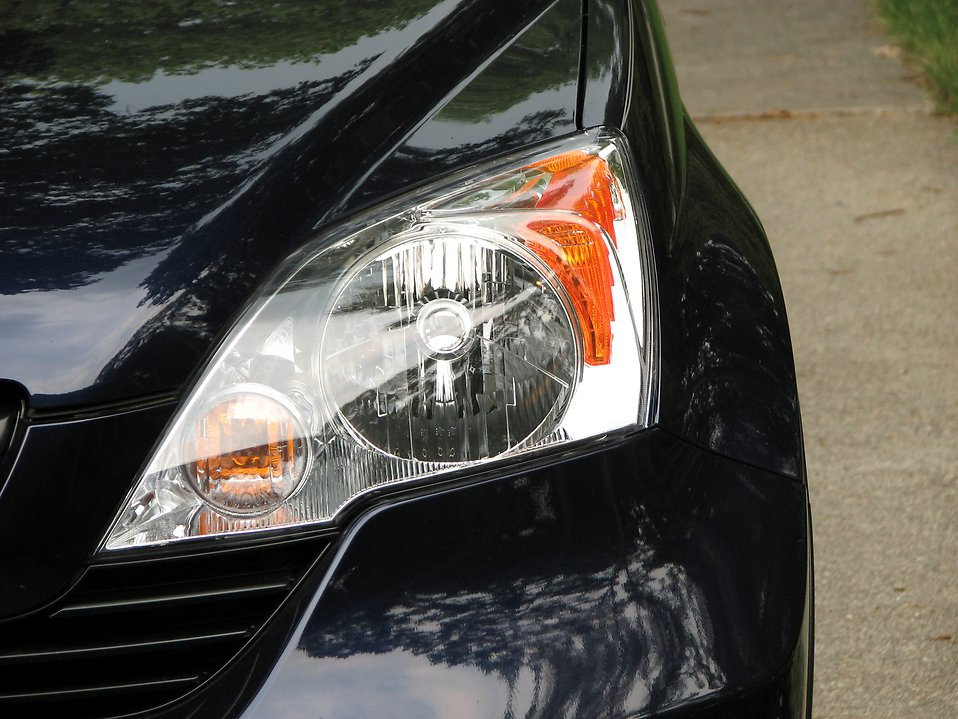 Closeup of a car headlight : Free Stock Photo