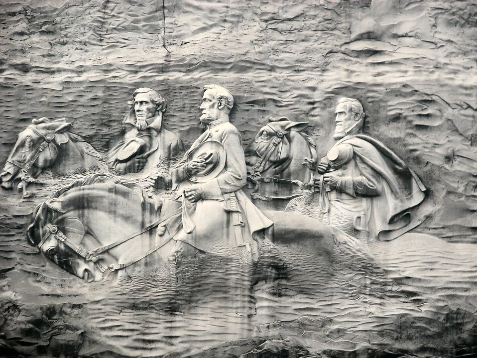Confederate soldier carving at Stone Mountain : Free Stock Photo