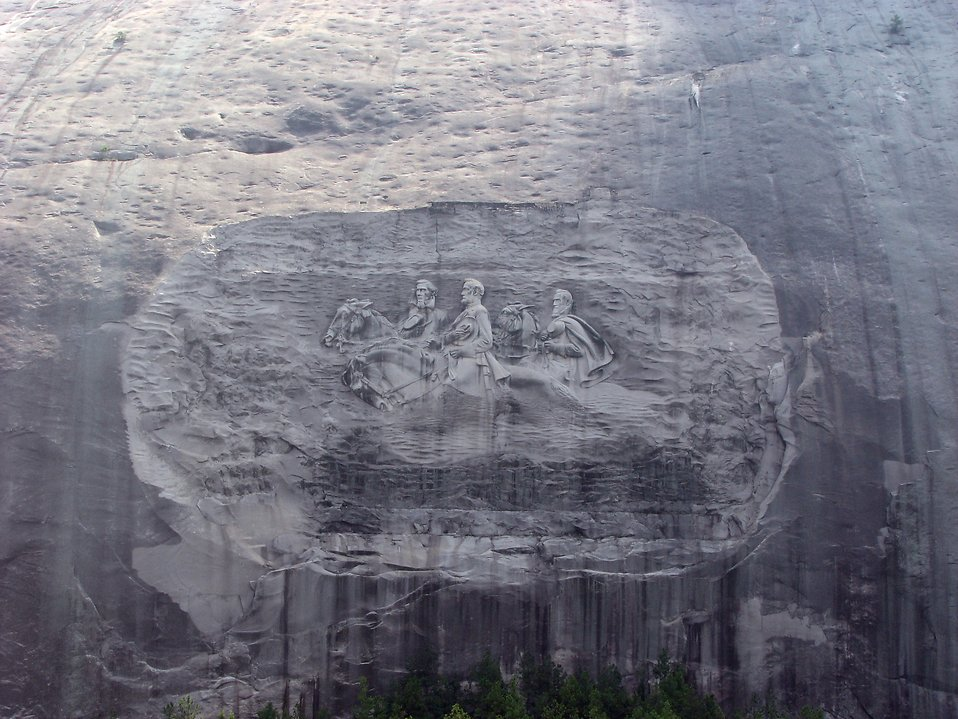 Confederate carving at Stone Mountain, Georgia : Free Stock Photo
