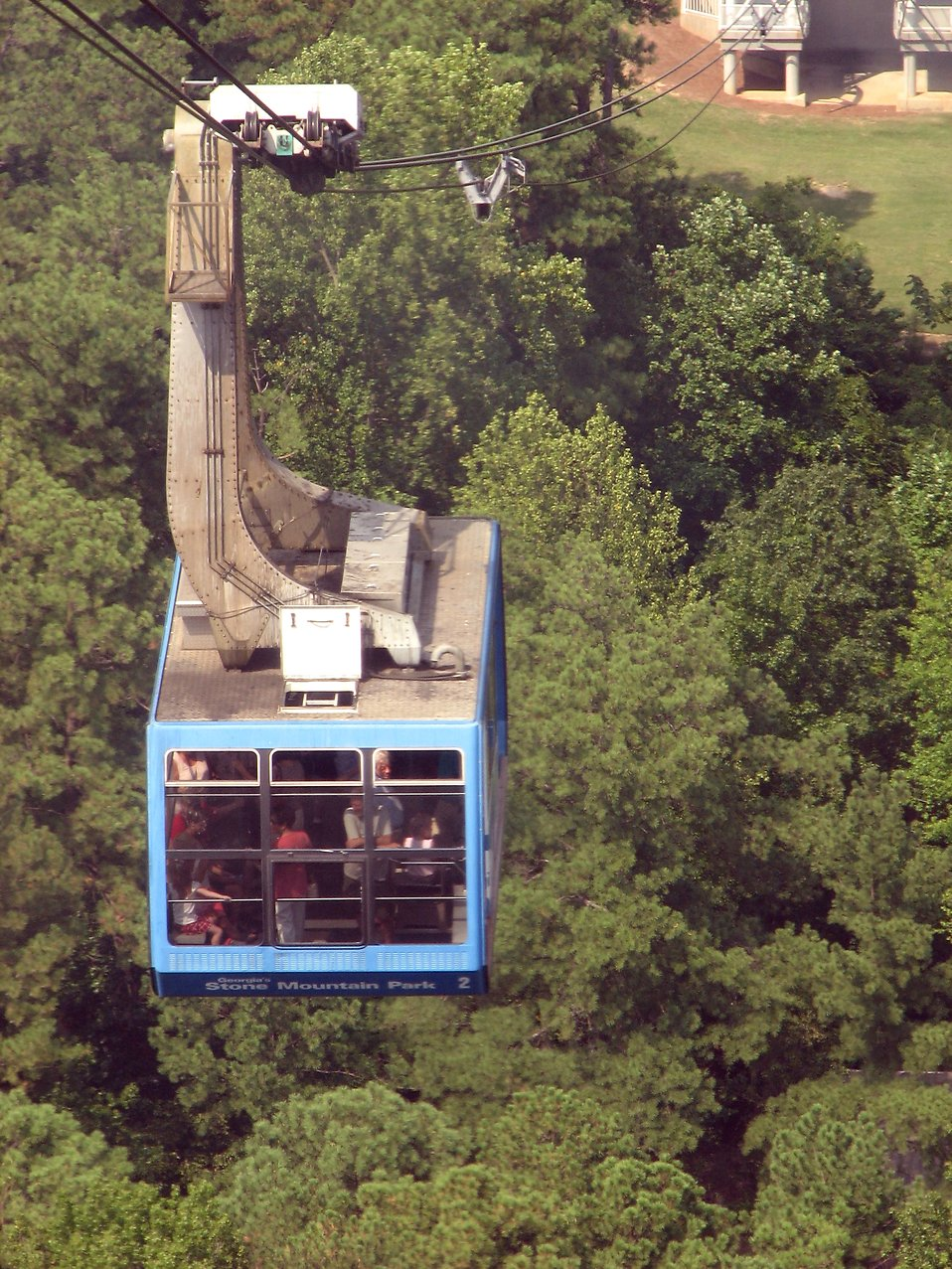 Skyride cable car at Stone Mountain : Free Stock Photo