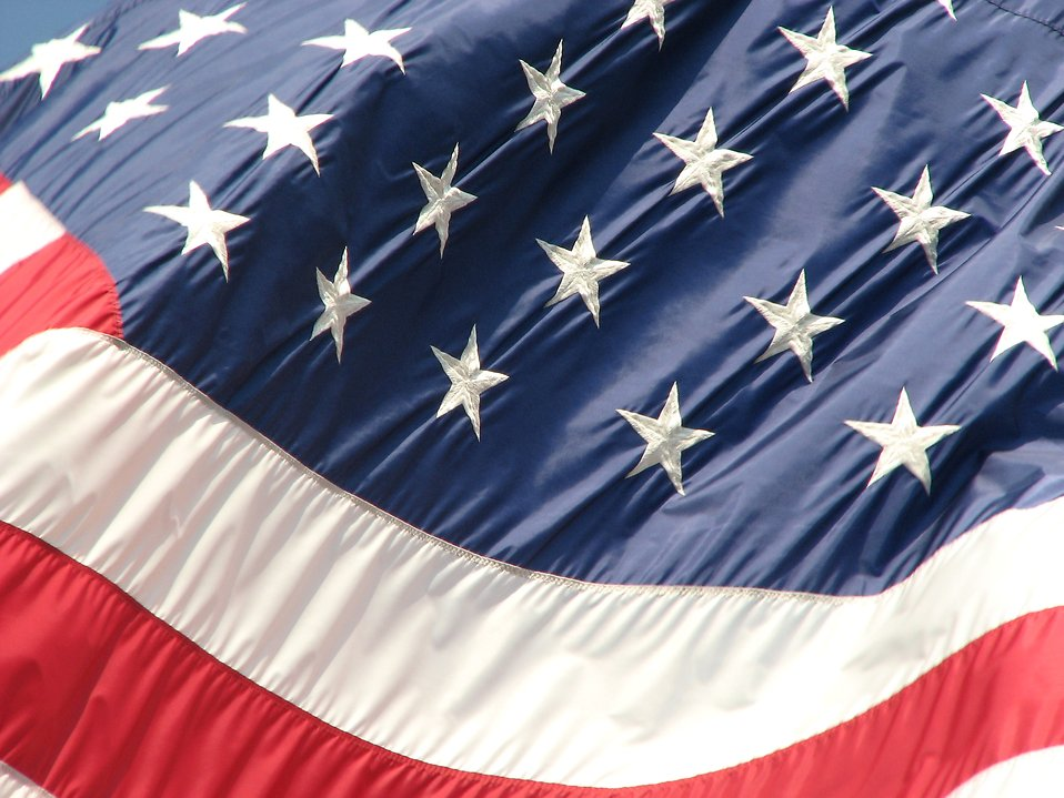Closeup of a United States flag : Free Stock Photo