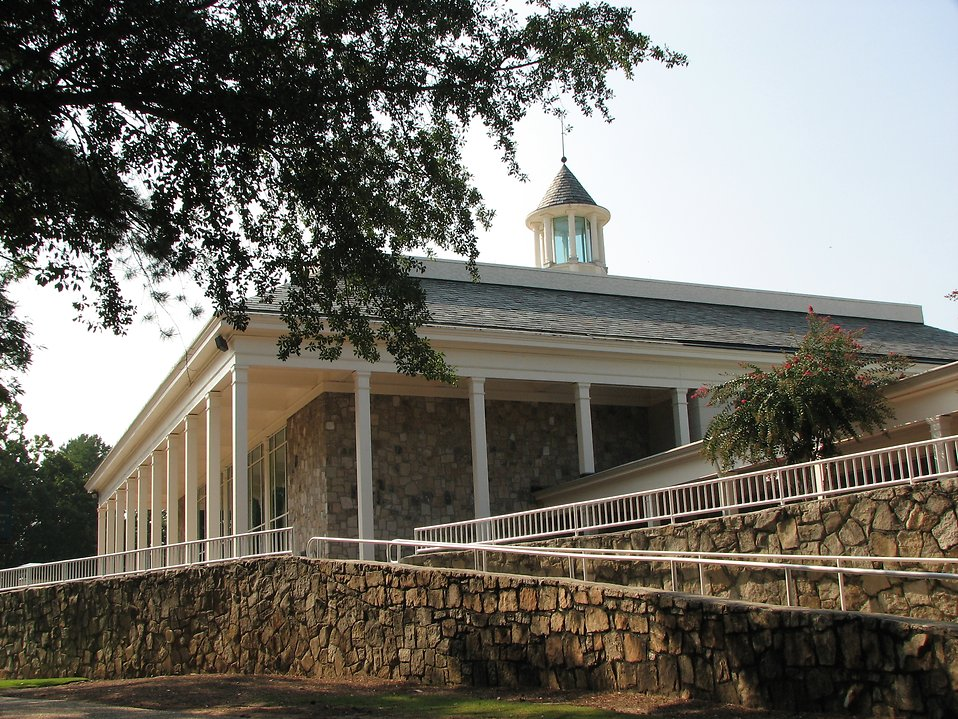 Back of Memorial Hall at Stone Mountain Park in Atlanta, Georgia.