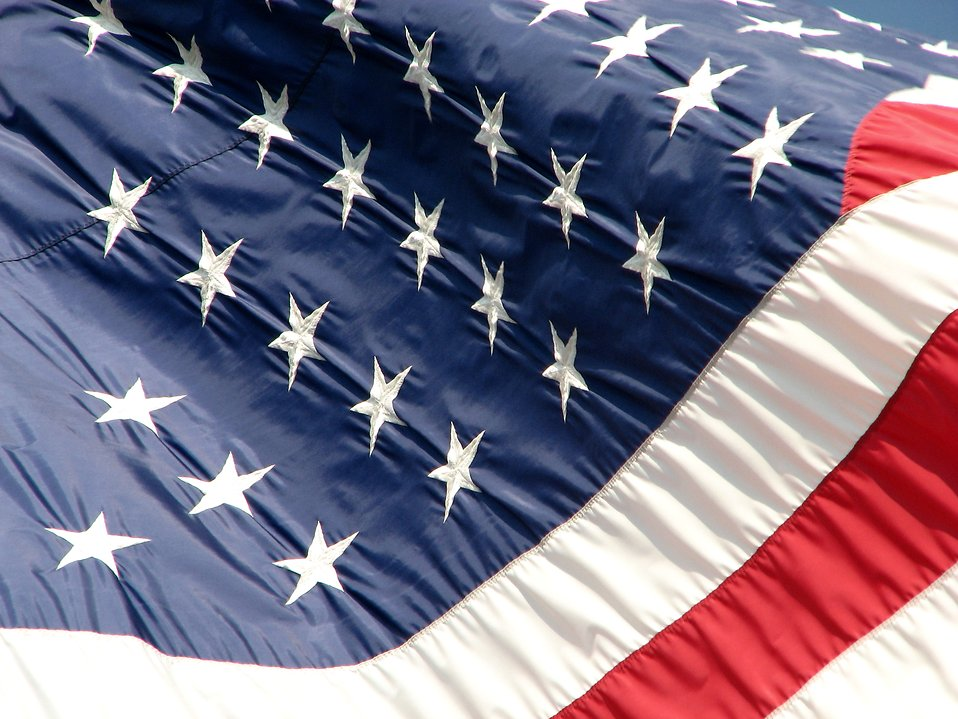 Closeup of a US flag : Free Stock Photo