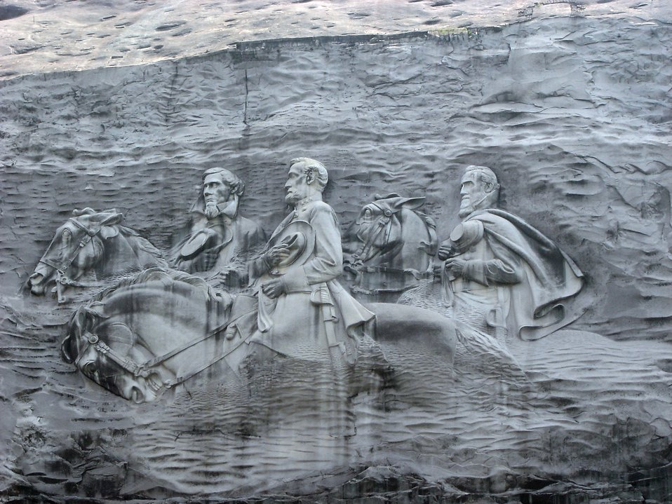 Stone mountain free stock photo confederate carving at