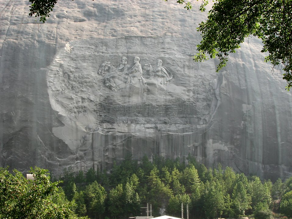 Confederate stone carving at Stone Mountain Park : Free Stock Photo