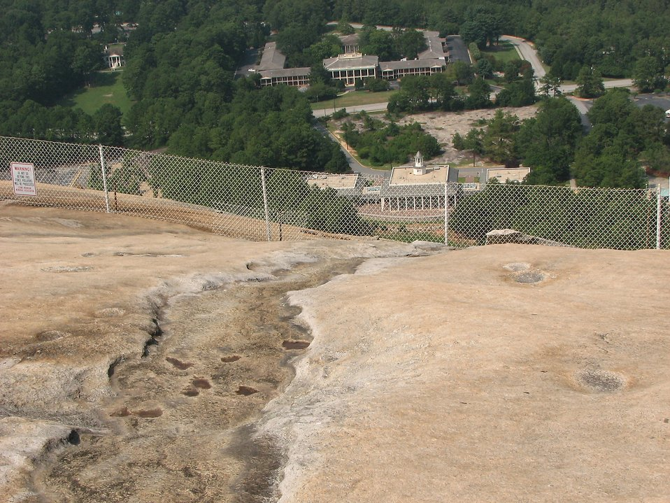 View of Memorial Hall from top of Stone Mountain : Free Stock Photo