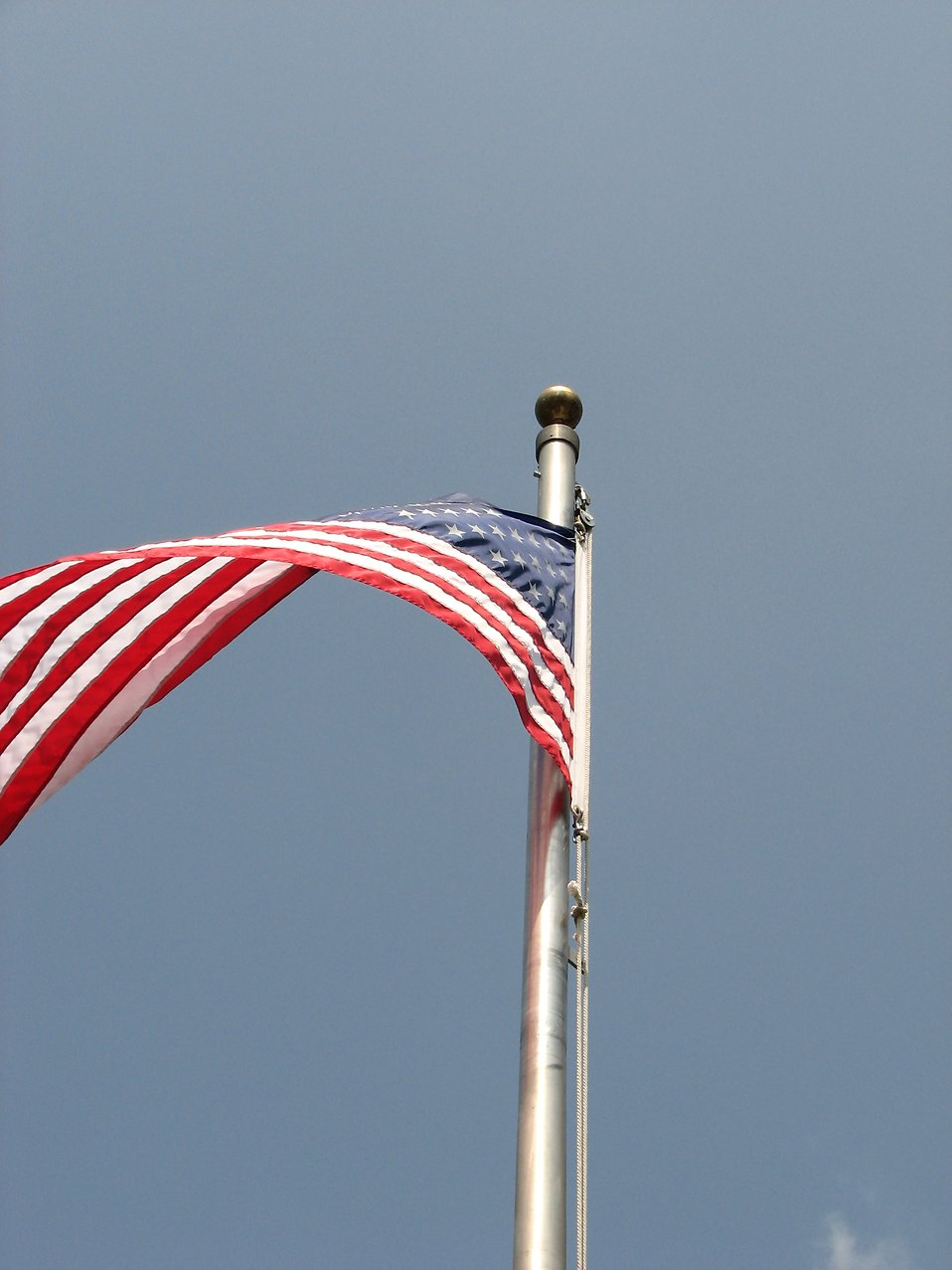 US flag flying in the wind : Free Stock Photo
