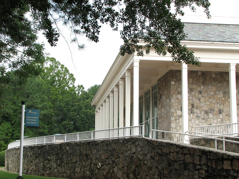 Back side view of Memorial Hall at Stone Mountain Park : Free Stock Photo