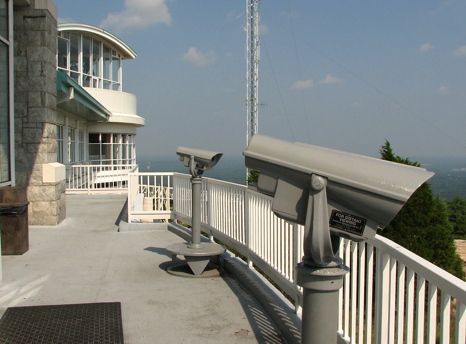Observation deck on the top of Stone Mountain : Free Stock Photo