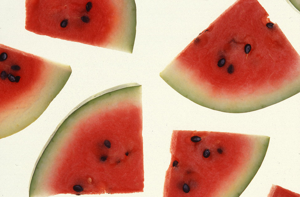 Watermelon slices isolated on a white background : Free Stock Photo