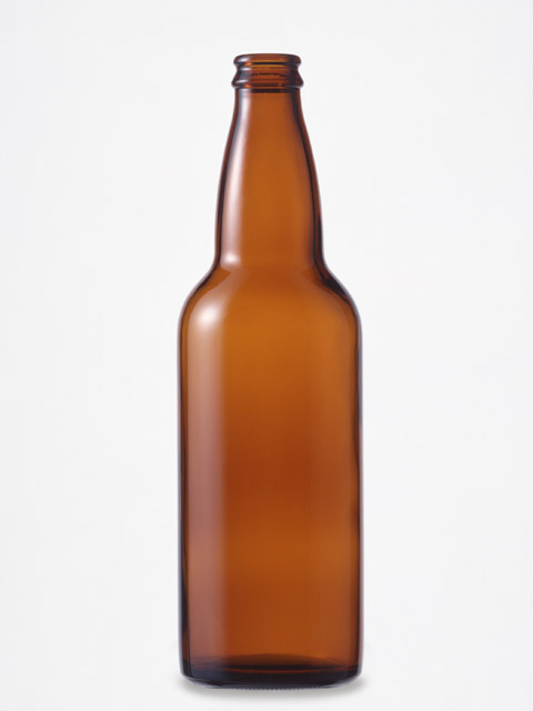 An empty brown beer bottle isolated on a white background : Free Stock Photo