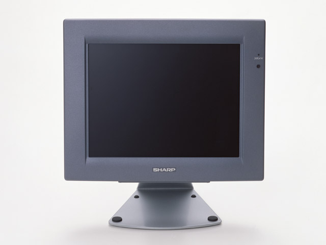 A computer monitor isolated on a white background : Free Stock Photo